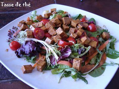 cuisiner tomates s馗h馥s le bonheur se cuisine salade aux cubes de tofu