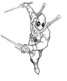 deadpool coloring deadpool coloring pages selfcoloringpages