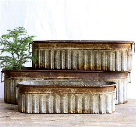 metal planter boxes 1000 ideas about metal planters on decorative