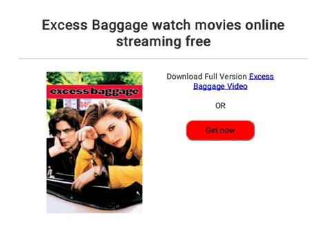 excess baggage  movies
