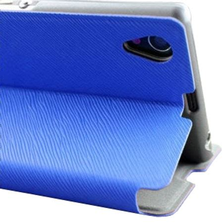 Casing Cover Sarung Pda Book Standing Xperia Z 2 Z2 book flip and stand for sony xperia z1 blue