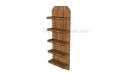 woodworking plans shelves wooden shelving plans howtospecialist how to build