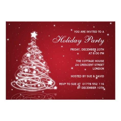 holiday party invitation christmas tree red zazzle