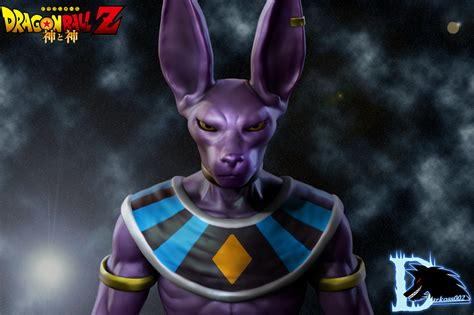 dragon ball z beerus wallpaper remake beerus birusu bills fan art 3d by darkoss002 on