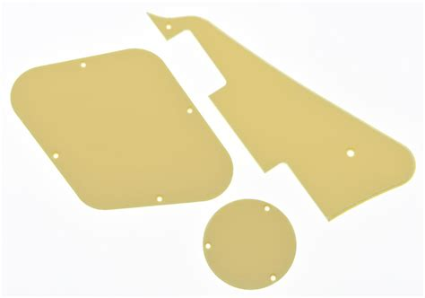 Backplate Ivory Gibson Lespaul Set 1 ply lp pickguard back plate switch cavity covers for gibson les paul ebay