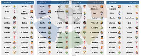 barcelona jadwal pertandingan jadwal liga spanyol 2015 2016 la liga liga bbva