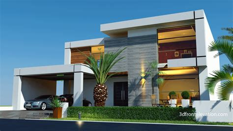 3d front elevation beautiful contemporary house