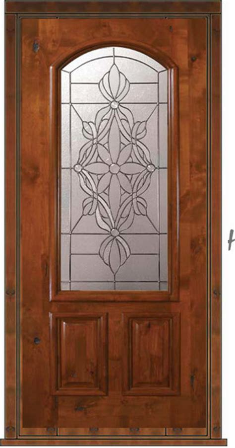 Glass Door For House Prehung House Single Door 80 Alder Evangeline 2 Panel Arch