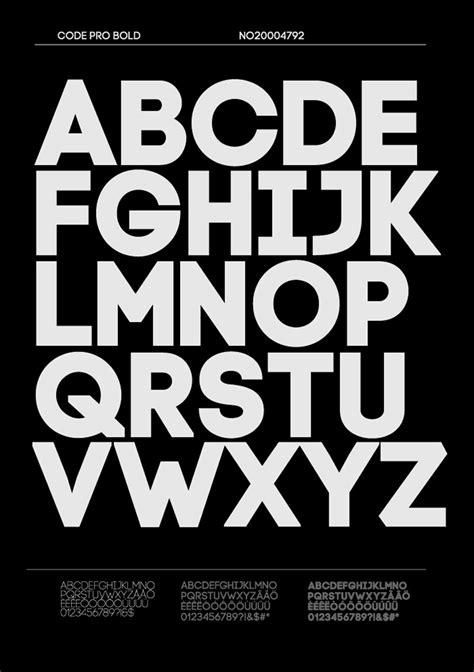 Code Pro, una sans serif de líneas rectas y elegante