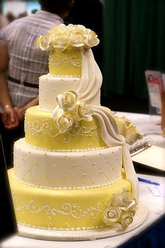 17  images about Wedding Cakes (Yellows and Ivory) on