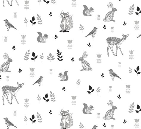 Decorative Accessories For The Home by Woodland Animals Wallpaper Helen Gordon