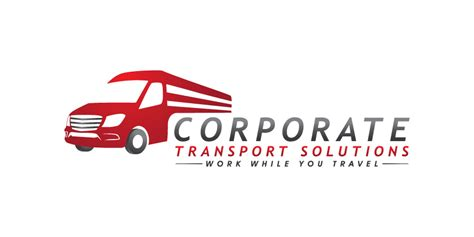 corporate transport services serious business service logo design for