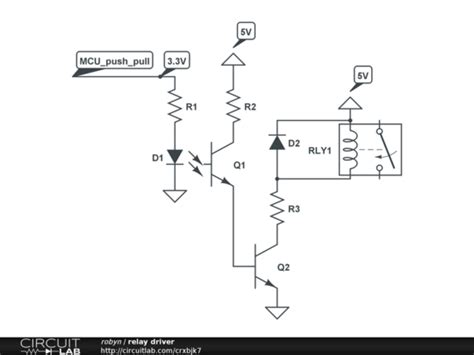 microcontroller driving a relay with transistor and opto isolator electrical engineering