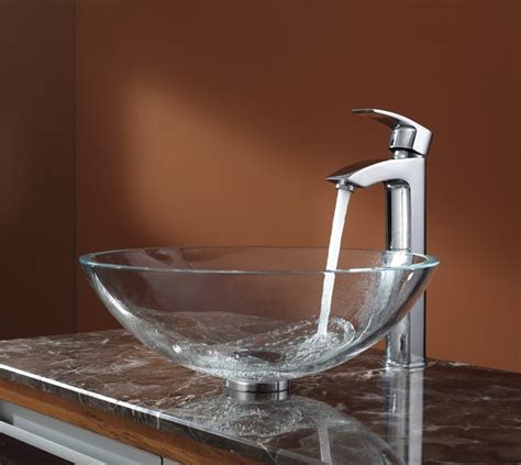 clear glass vessel sinks crystal clear glass vessel bathroom dreams come