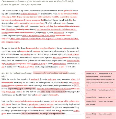Recommendation Letter Format For Llm Recommendation Letter Editing Transcend Admissions