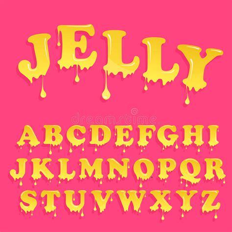 printable melting font pink jelly alphabet glossy letterhead design vector