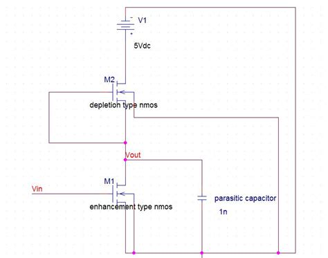 mos capacitor problems and solutions nmos inverter with resistive load 28 images depletion load nmos inverter figure 5 3 nmos