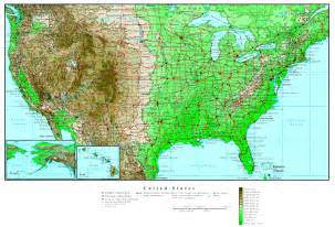 elevation map of united states elevation map