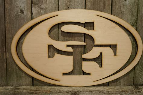 what does sf on logo san francisco 49ers logo wall hanging sign