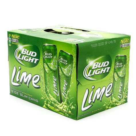 bud light lime 12oz slim can 12 pack slim wine