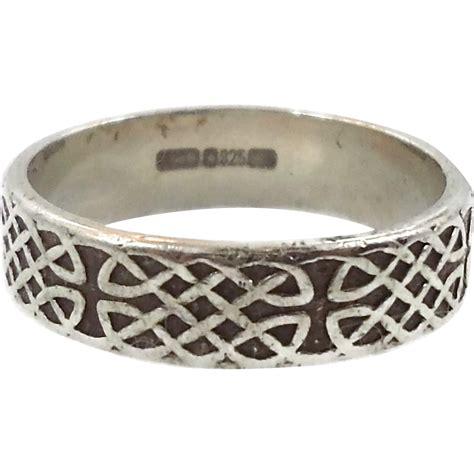 celtic knot ring sterling silver celtic band vintage