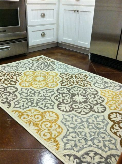 Grey And White Kitchen Rugs Kitchen Rug Purchased From Overstock Blue Grey Yellow Brown Home Decor Kitchen Decor