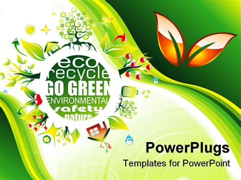 ppt templates free download recycling abstract environment and eco background for green flyers
