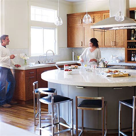 round kitchen island look a semi circular kitchen island the kitchn