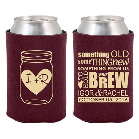 Handmade Koozies - 21 unique personalized wedding favors masons the o jays