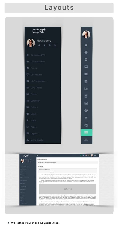 menu layout laravel core plus laravel spark template laravel blade files