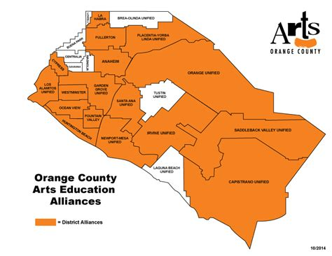 california community college districts map arts orange county the countywide nonprofit arts