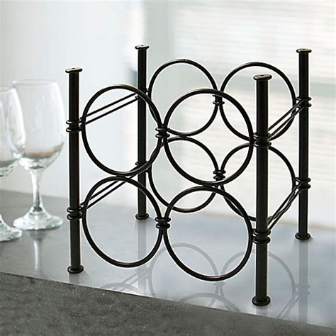 wine rack bed bath and beyond mesa yaan 4 bottle wine rack in antique black bed bath