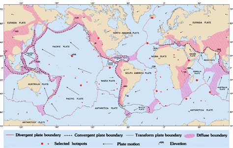 tectonic plates map usa tectonic plate boundary map