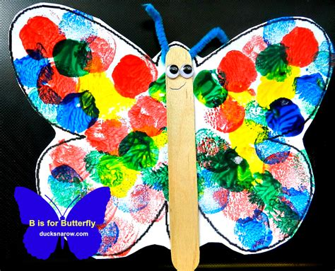 Preschool Crafts For Easy Butterfly b is for butterfly preschool lesson craft ducks n a row
