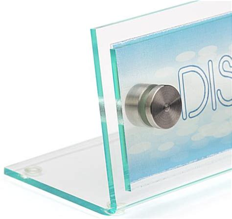 desk name plate holder two stainless steel standoffs
