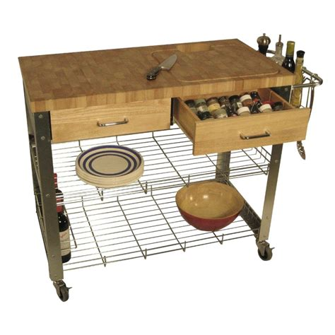 kitchen work station table chris chris end grain kitchen cart work station