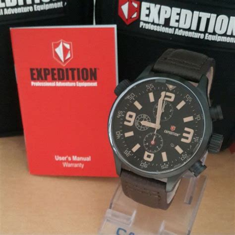 Jam Tangan Expedition8 jam tangan expedition 6318 m black brown original expedition original