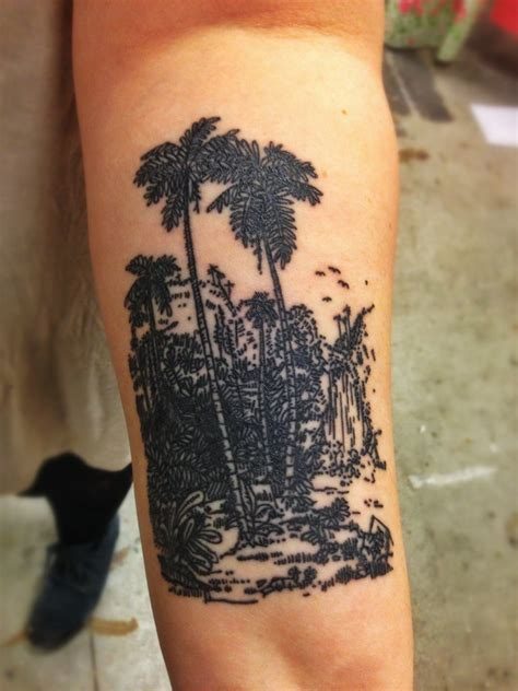 tattoo jungle tropical jungle