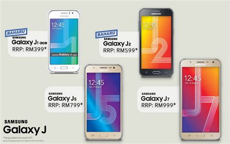 Harga Samsung J2 N J5 samsung malaysia launches the samsung galaxy j1 ace and j2