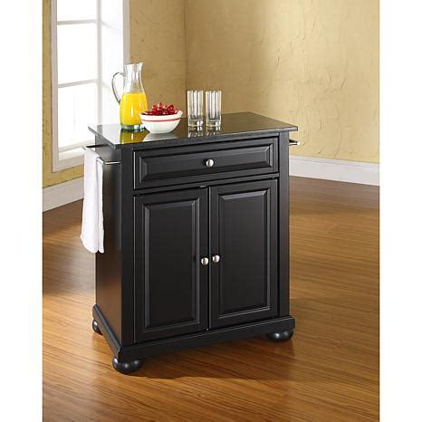 crosley alexandria solid granite top portable kitchen crosley alexandria solid black granite top portable