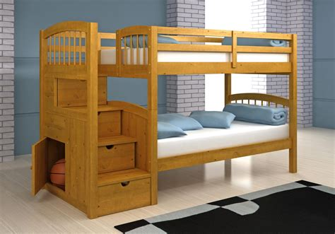Bunk Bed With Stairway Save Big On Stairway Bunk Bed Light Brown