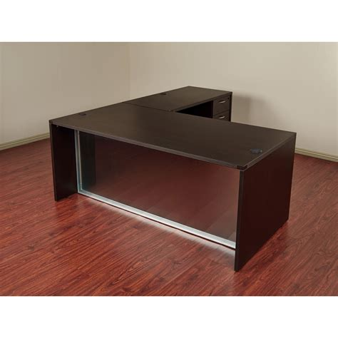 osp furniture napa desk osp napa l shaped desk with glass modesty panel