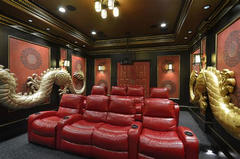 Home Theater Houston Ideas Asian Theme Custom Theater Room Asian Home Theater Houston By Relative Home Systems