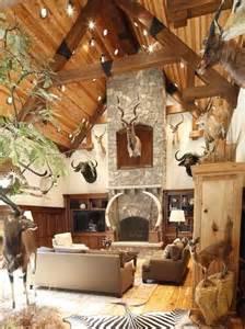 deer themed home decor best 20 lodge interiors ideas on