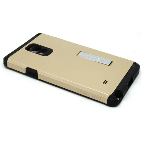 sgp tough armor plastic tpu combination with kickstand for galaxy note 4 oem golden