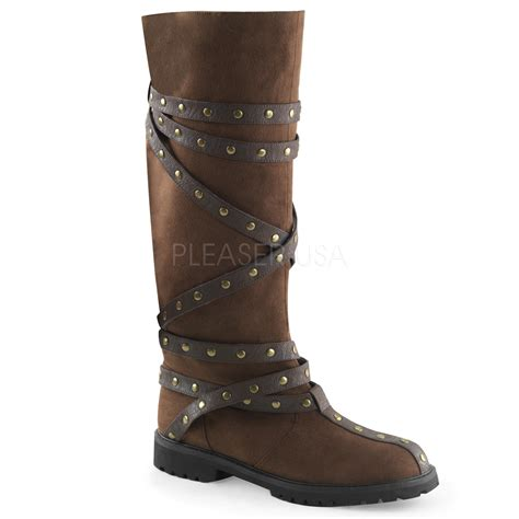 mens costume boots costume mens gotham boots with straps thevikingstore co uk