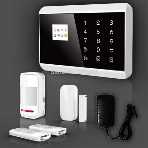 buy house alarm wireless touch keypad tft color display gsm pstn medical house home security