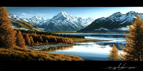 lake pukaki  autumn  dale gallagher  zealand fine