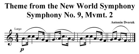themes from the new world symphony listening exles alisha gabriel