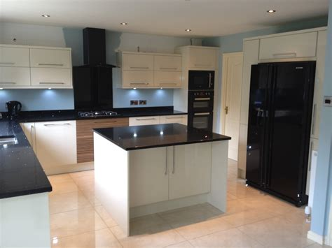 Fitted Kitchen Design by Gloss Stone Kitchen Signature Kitchens Amp Bathrooms